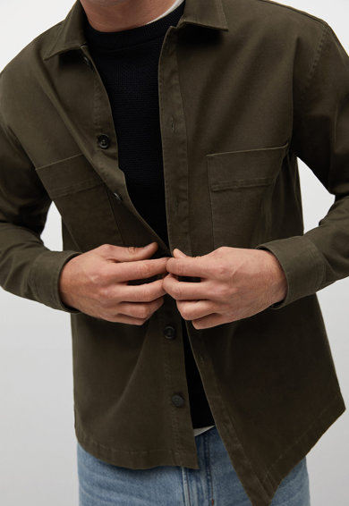Mango Риза Rubens с пришити джобове Мъже
