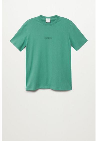 Mango Тениска Lisboa от органичен памук Мъже