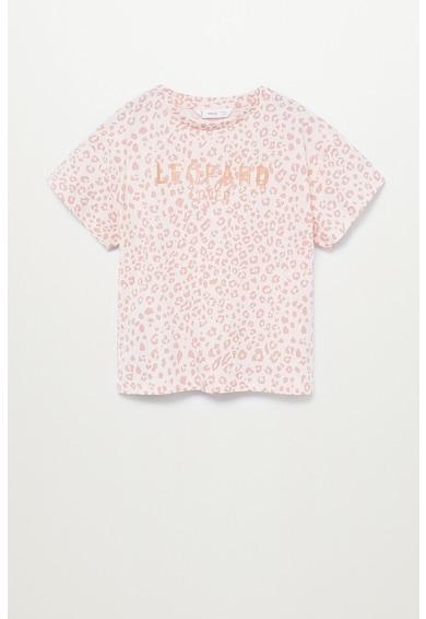 Mango Десенирана тениска Tusa от органичен памук Момичета