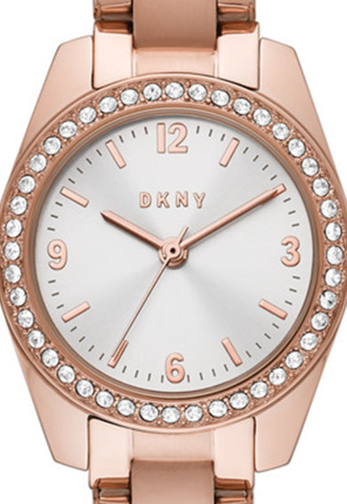 DKNY Ceas quartz de otel inoxidabil Femei