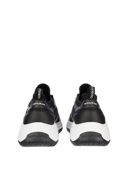 CALVIN KLEIN JEANS Pantofi sport de piele ecologica cu insertii de material textil Barbati