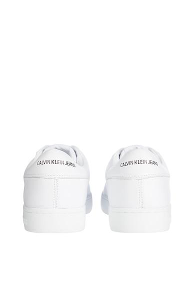 CALVIN KLEIN JEANS Pantofi sport din piele cu detalii logo Barbati
