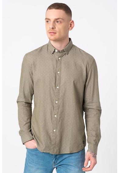 Tom Tailor Риза по тялото с яка със скрити копчета Мъже