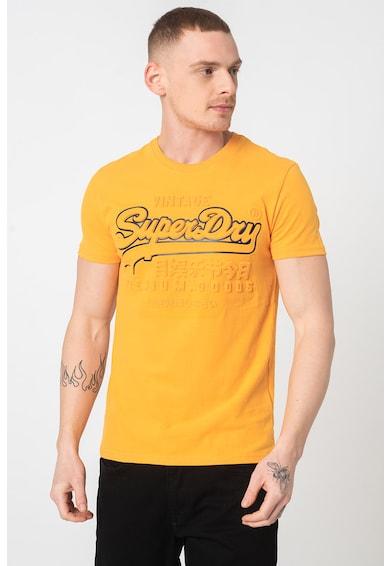 SUPERDRY Тениска с овално деколте и лого Мъже