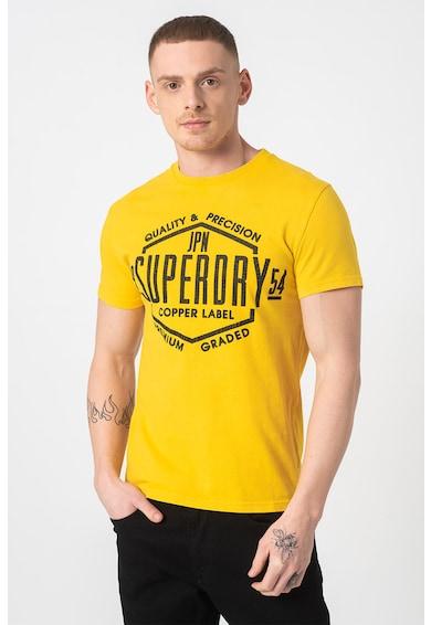 SUPERDRY Памучна тениска Copper Label с щампа Мъже
