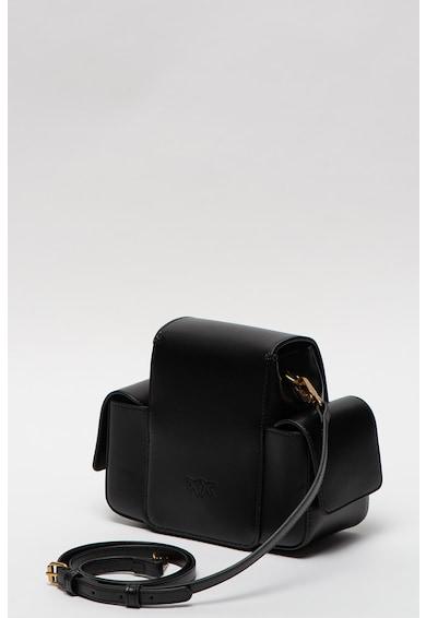 Pinko Кожена чанта Love Smart с метално лого Жени