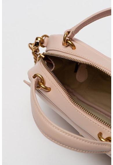 Pinko Малка кожена чанта с метално лого Жени