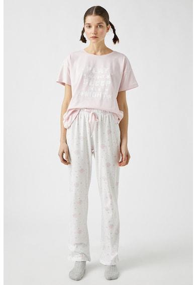 KOTON Pijama din bumbac cu imprimeu Femei