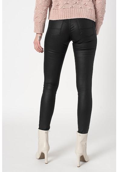 Pepe Jeans London Прилепнали дънки Regent с еко кожа Жени