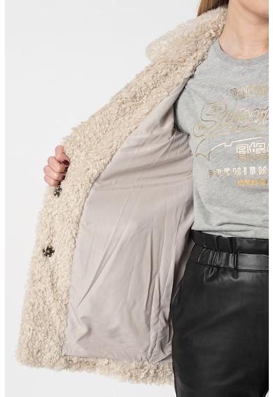 Pepe Jeans London Палто Gretta от букле с ревери Жени