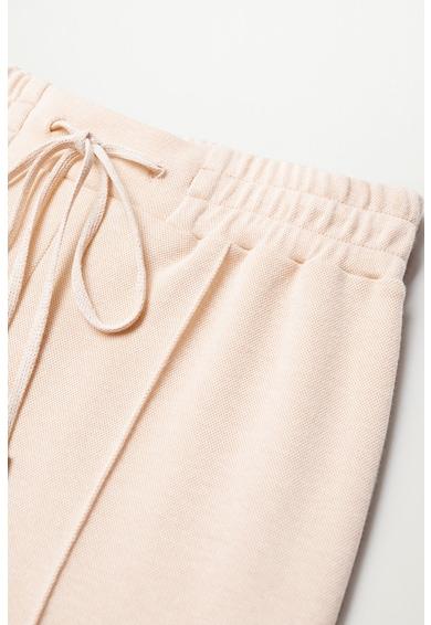 Mango Панталон с органичен памук с ниско дъно Жени