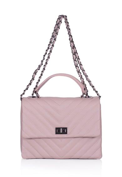 Zevo Кожена чанта Sabrina с капитониран ефект Жени