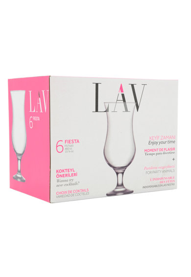 LAV Set 6 pahare cocktail  Fiesta, 460 ml Femei