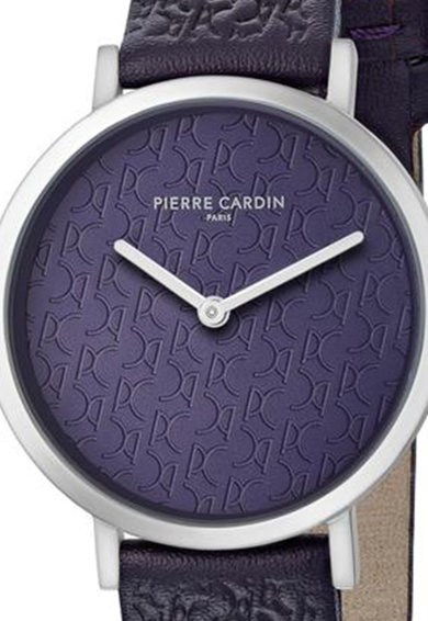Pierre Cardin Ceas analog rotund cu model monograma stantat Femei