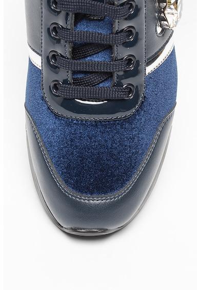 Love Moschino Pantofi sport din piele ecologica si catifea Femei