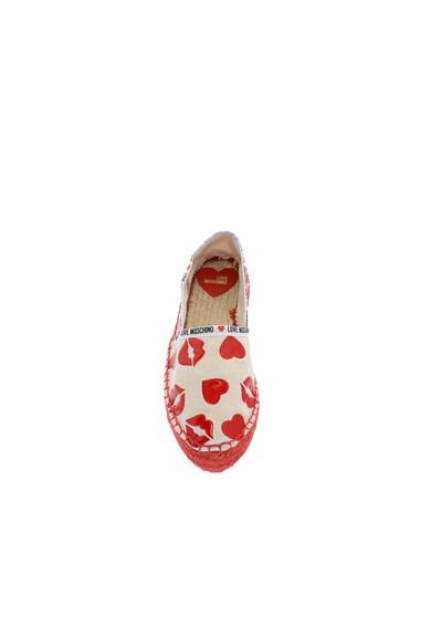 Love Moschino Espadrile flatform cu imprimeu Femei