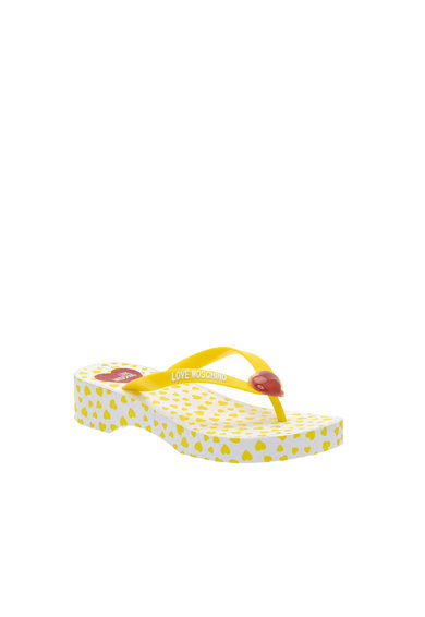 Love Moschino Papuci flip-flop cu aplicatie logo Femei