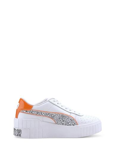 Puma Кожени спортни обувки Cali Wedge MR DOODLE Жени