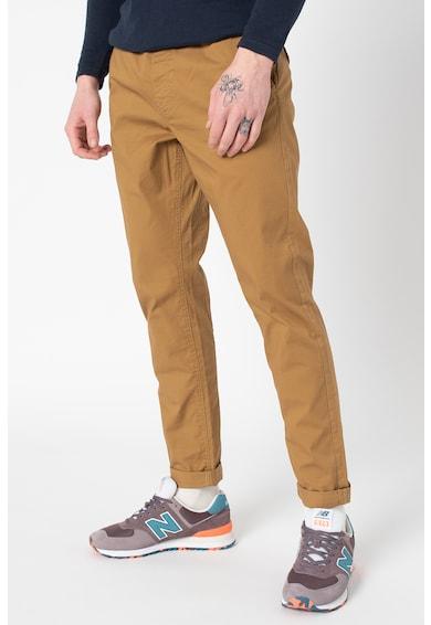 !Solid Pantaloni slim fit cu snur in talie Barbati
