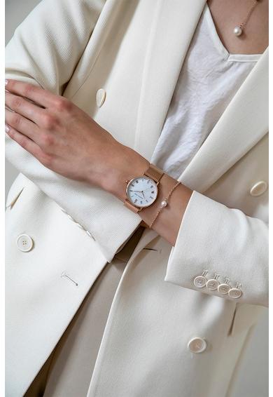 Isabella Ford Ceas cu o curea de piele intersanjabila si 4 diamante Femei