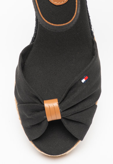 Tommy Hilfiger Sandale cu talpa wedge si garnitura din piele Basic Femei