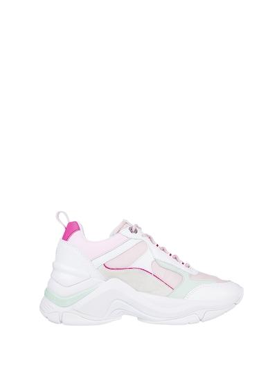 Tommy Hilfiger Pantofi sport wedge de piele cu aspect colorblock Fashion Femei