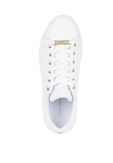 Tommy Hilfiger Pantofi sport de piele si piele ecologica cu segmente texturate Femei