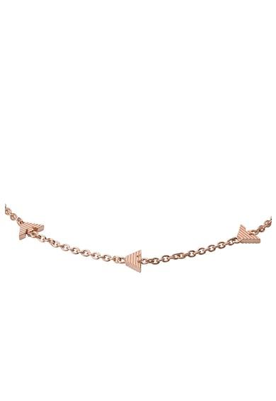 Emporio Armani Bratara ajustabila de argint cu logo Femei