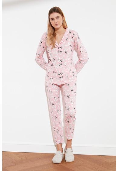 Trendyol Pijama cu ursuleti panda Femei