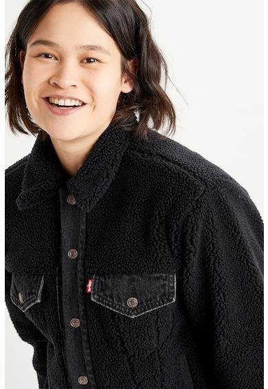 Levi's Jacheta din blana sherpa cu garnituri din denim Ex-Boyfriend Femei