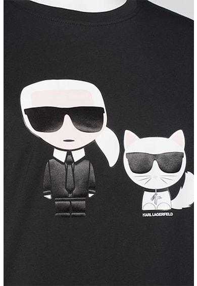 Karl Lagerfeld Tricou din bumbac organic cu logo Ikonik Karl Femei