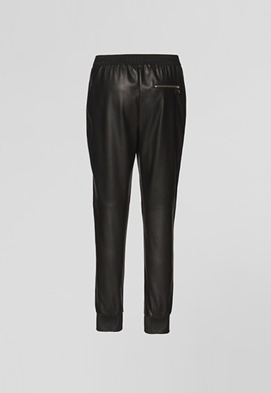Karl Lagerfeld Pantaloni jogger din piele ecologica cu croiala conica Femei