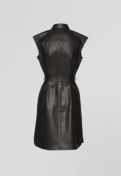 Karl Lagerfeld Рокля тип риза от еко кожа с колан Жени