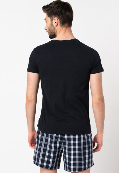 Gant Tricou de casa din bumbac cu detaliu logo pe piept - 2 piese Barbati