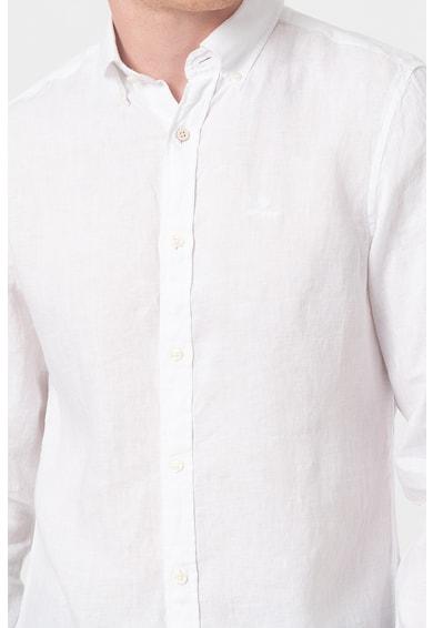 Gant Camasa slim fit de in cu guler fixat cu nasturi Barbati