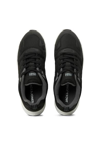 Jack&Jones Pantofi sport din piele ecologica cu insertii din plasa Barbati