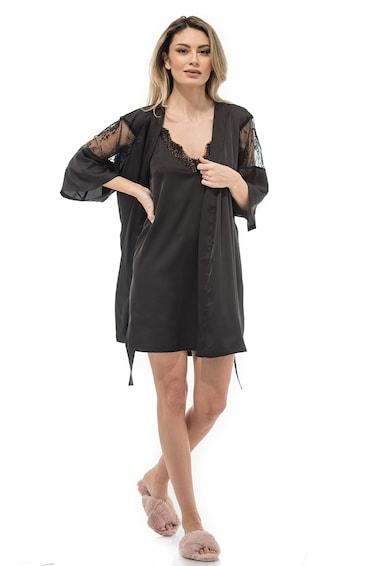 CASA DE MODA VIGO Camasa de noapte de satin cu bretele ajustabile Aryan Femei