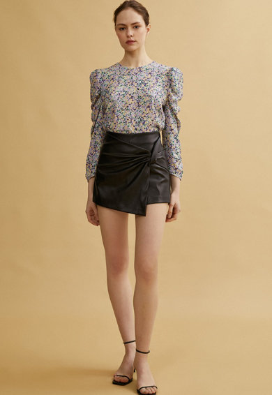 KOTON Fusta-pantalon de piele ecologica Femei