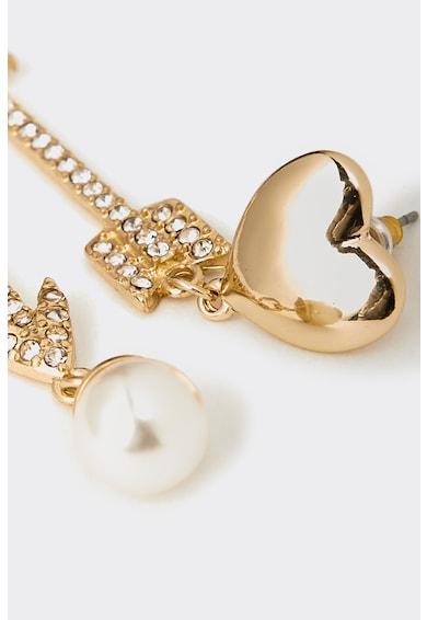 Motivi Cercei lungi cu cristale si perle sintetice Femei