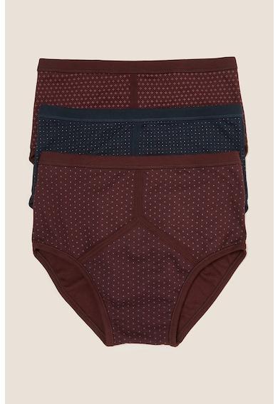 Marks & Spencer Set de chiloti cu imprimeu cu buline - 3 perechi Barbati
