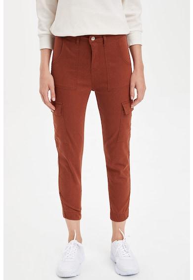 DeFacto Pantaloni cargo slim fit Femei
