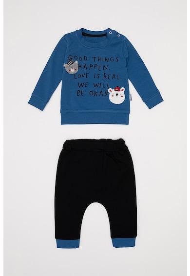 DeFacto Set de bluza si pantaloni jogger cu imprimeu text Baieti