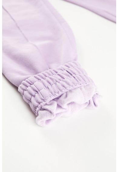 DeFacto Pantaloni sport din amestec de bumbac, cu talie inalta Fete