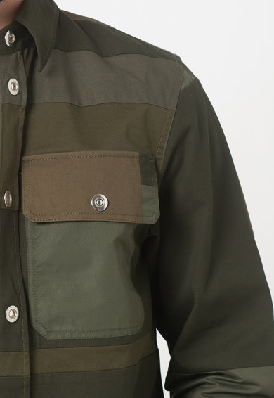 Diesel Jacheta tip camasa cu segmente contrastante S-Horus Barbati