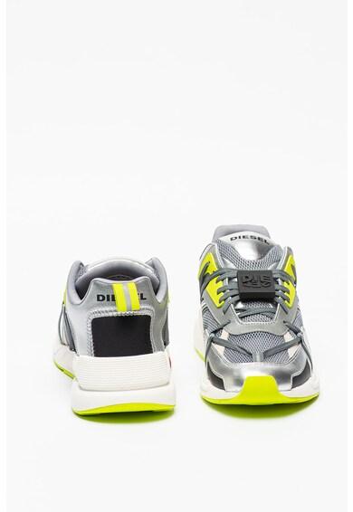 Diesel Pantofi sport cu aspect metalizat si insertii de plasa Serendipity Barbati