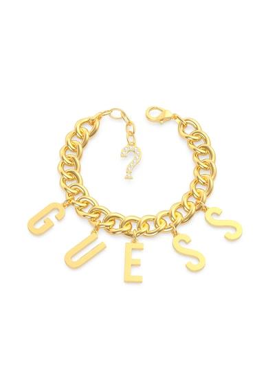 Guess Bratara din lant cu talismane cu litere Femei