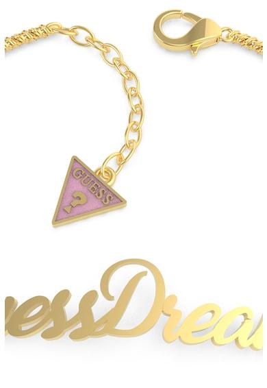 Guess Bratara din lant ,placata cu aur,cu logo din litere Femei