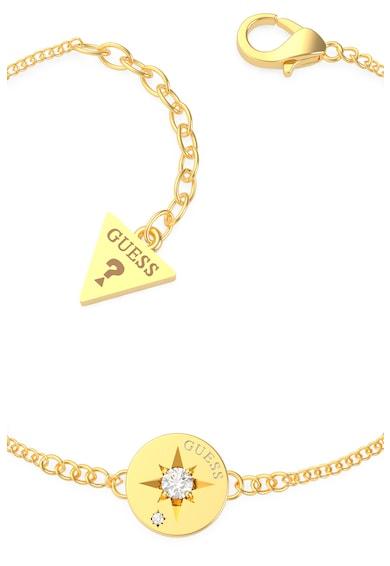 Guess Bratara ajustabila cu talisman in forma de moneda,placata cu aur Femei