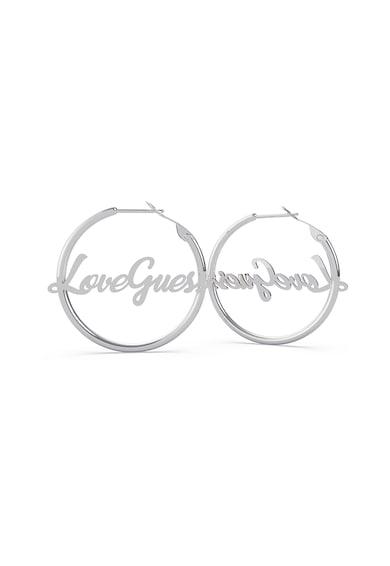 Guess Cercei din otel inoxidabil circulari cu logo Femei