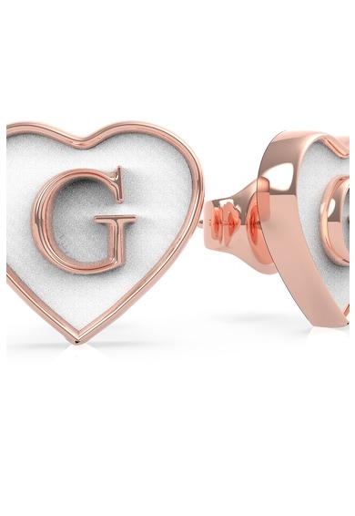 Guess Cercei in forma de inima, cu tija si detalii de email Femei